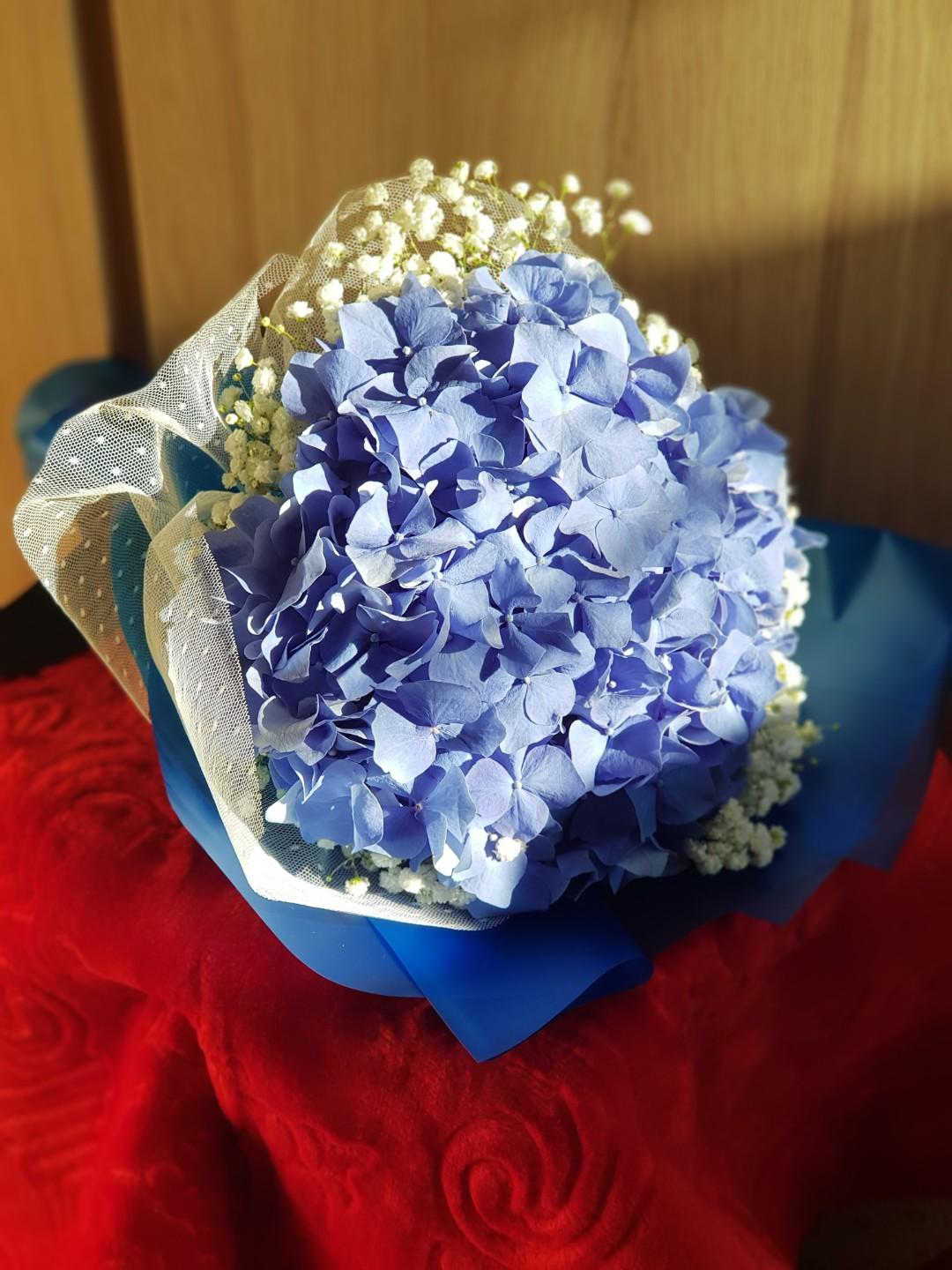 Hydrangea Bouquet | Fresh Flowers Bouquet | Mother's Day Bouquet #02