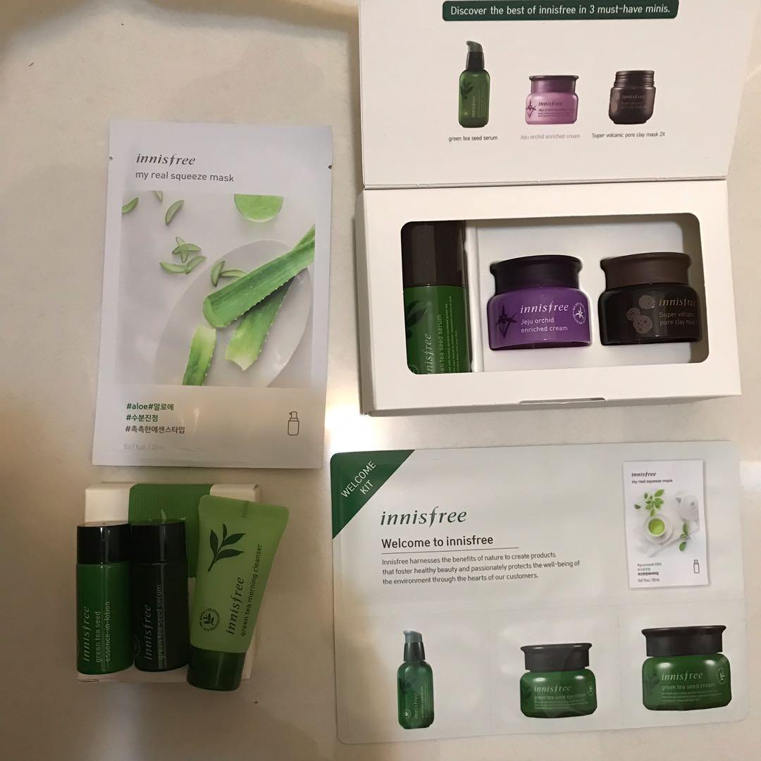 ❗️Innisfree face mask, lotion, essence, serum, cleanser, cream