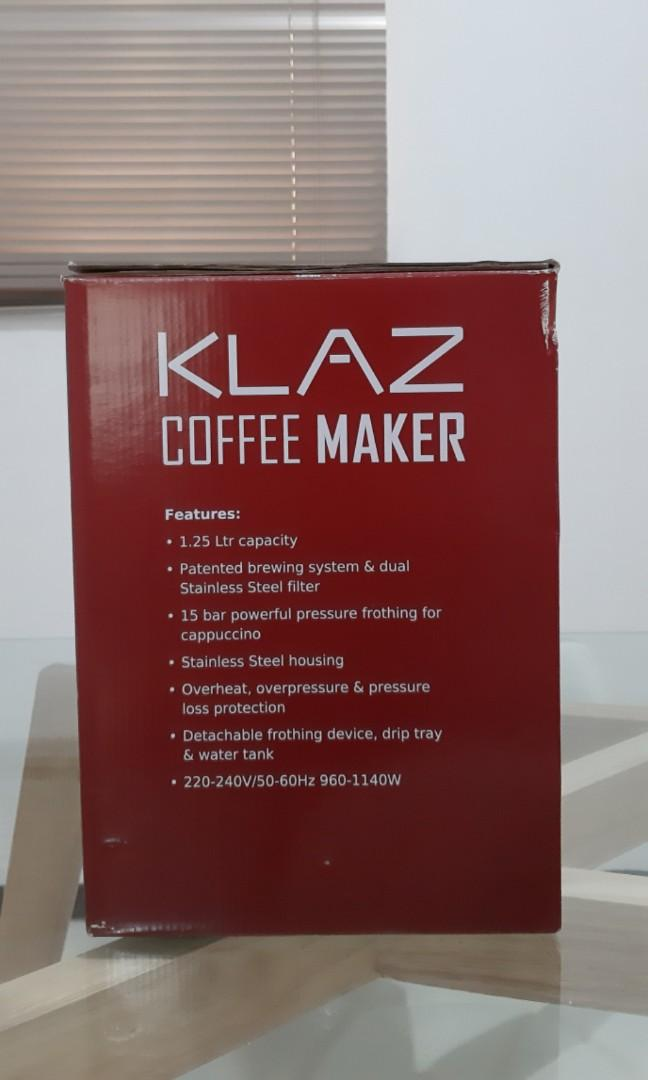 Klaz Coffee Maker 1.25L New!!