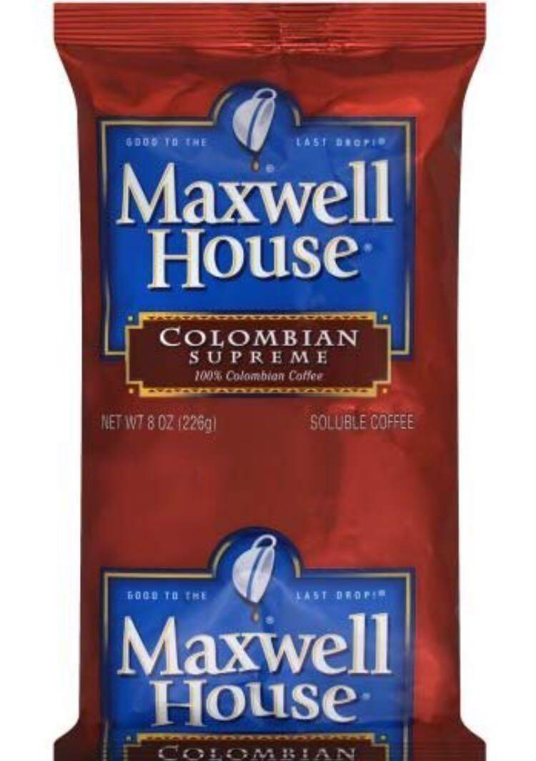 Maxwell House 100 Percent Columbian Soluble Caffeinated