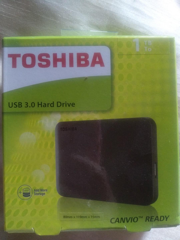 NEW & Sealed! Toshiba Canvio Ready USB 3.0 1TB External Hard Disk Drive (masih baru dan tak pernah guna)