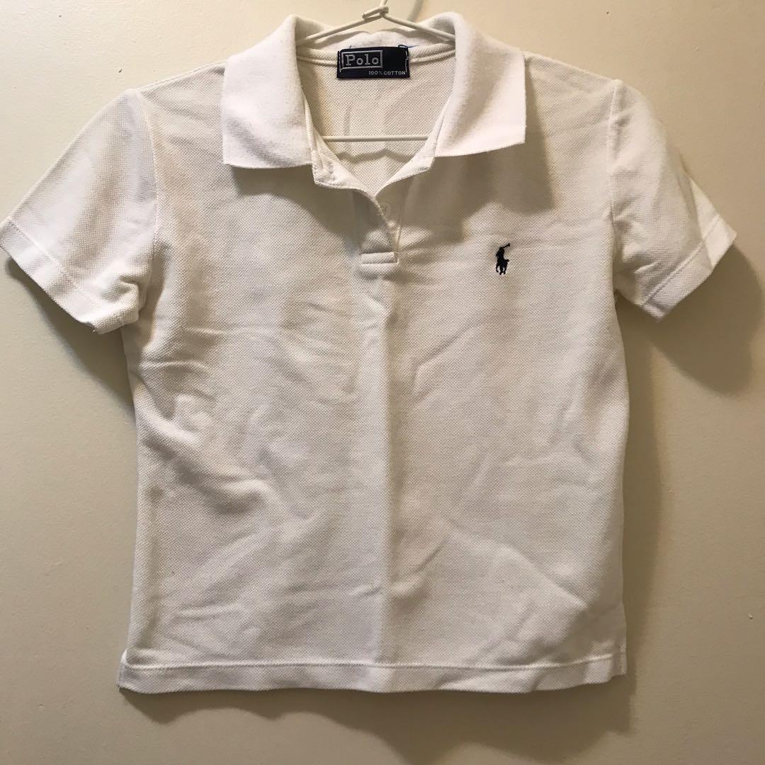 9bff667d792 Ralph Lauren White Polo Crop Top Shirt, Women's Fashion, Clothes on ...