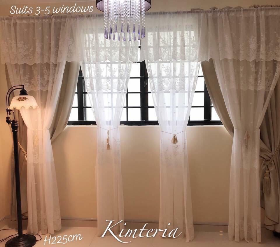 Ready Stock Gorgeous Victorian Lace Day Curtains Good Material