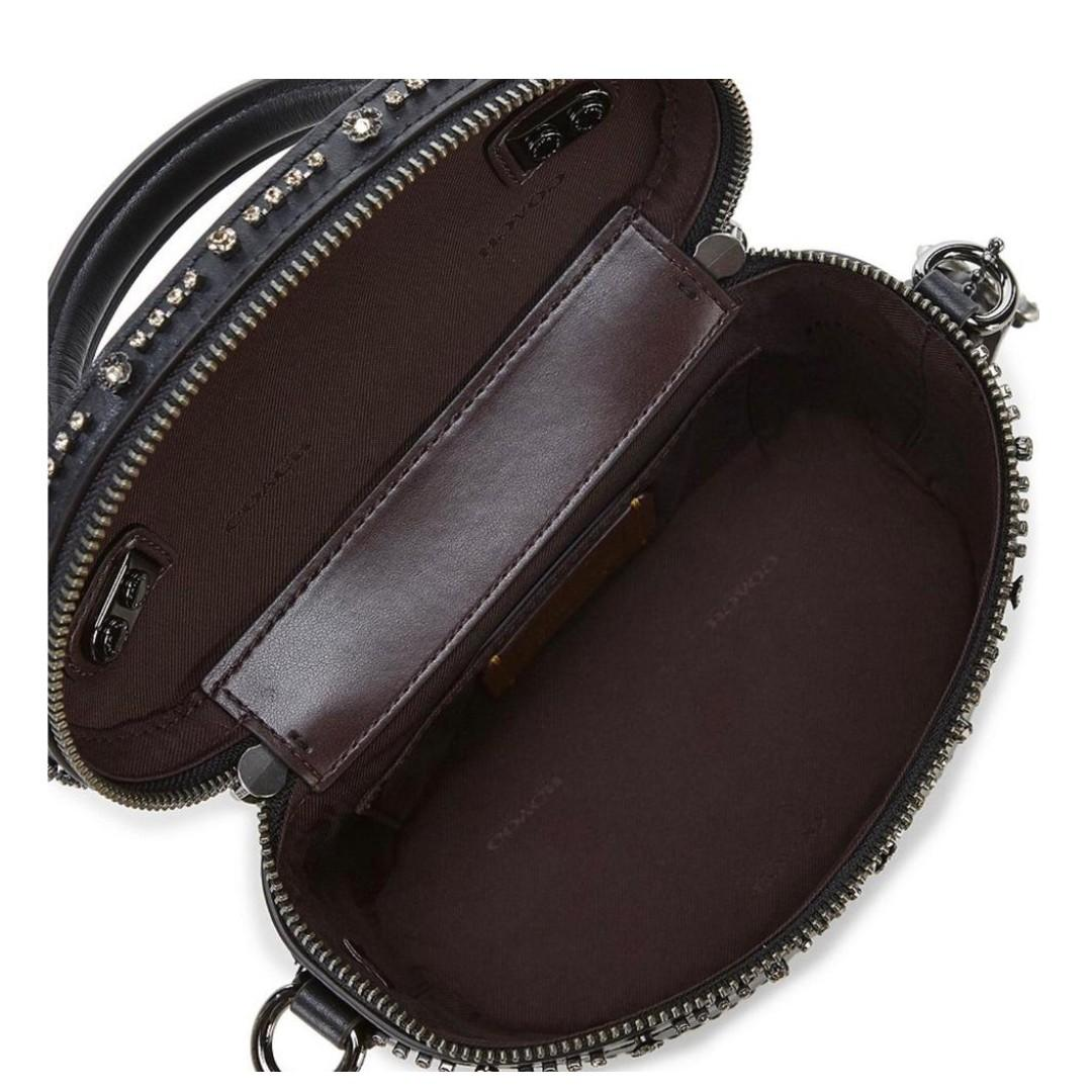 [READY STOCK] Coach  Selena Gomez Trail Bag Crystal Embellishment Women Crossbody f39292 Black 30292 Beg Sling