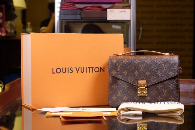 *REPRICED* Louis Vuitton Metis Mono 2017 box, db, rec spore + tax invoice, strap, barcode, tag  *buckle masi sealed*