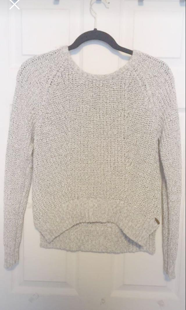 Roots shoe-lace knit sweater
