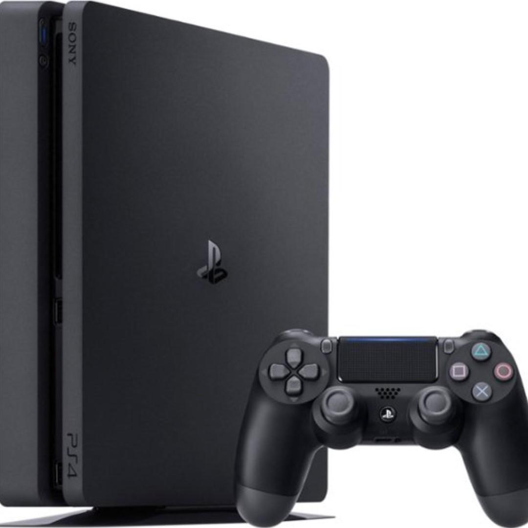 Sony PlayStation 4, 500GB Slim System [CUH-2215AB01], Black,