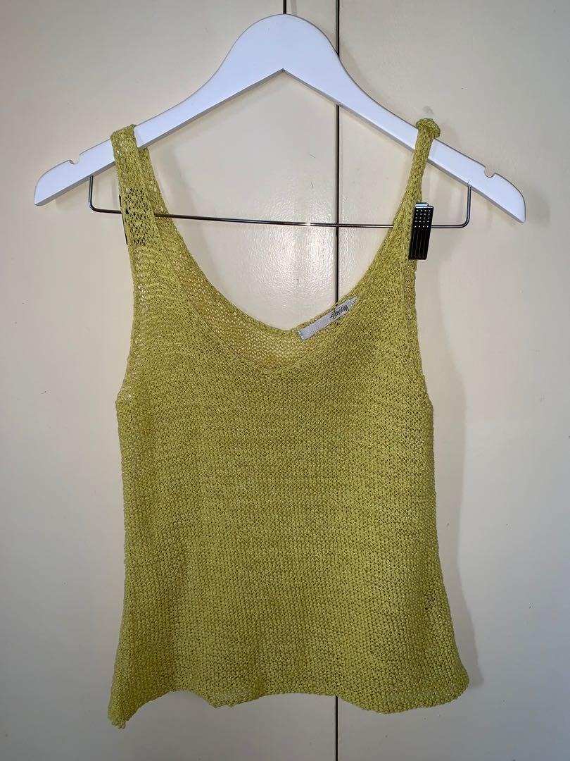 Stussy crochet singlet