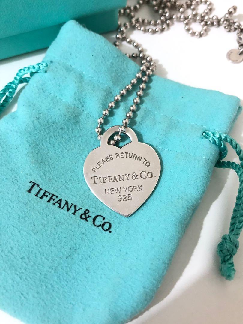 Tiffany & co return to Tiffany heart tag pendant large