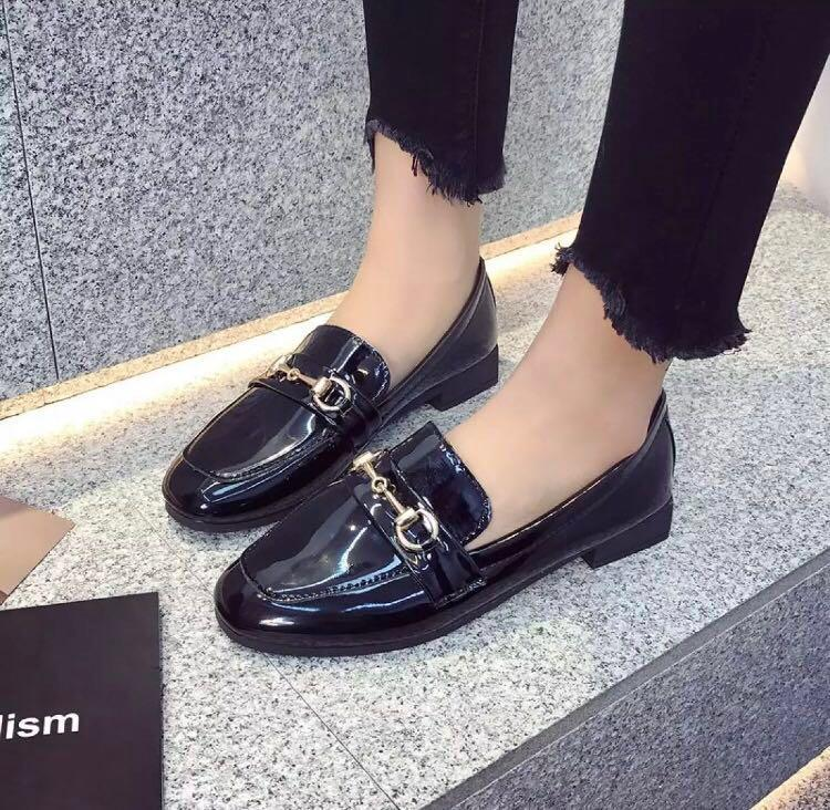 Vintage Black Loafers KOREAN STYLE
