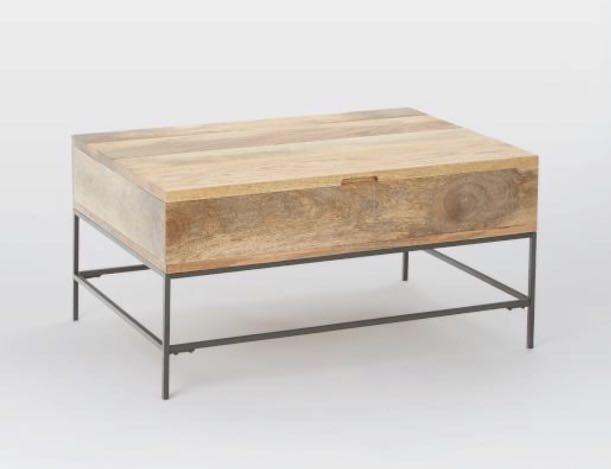 Pop Up Coffee Table.West Elm Industrial Storage Pop Up Coffee Table On Carousell