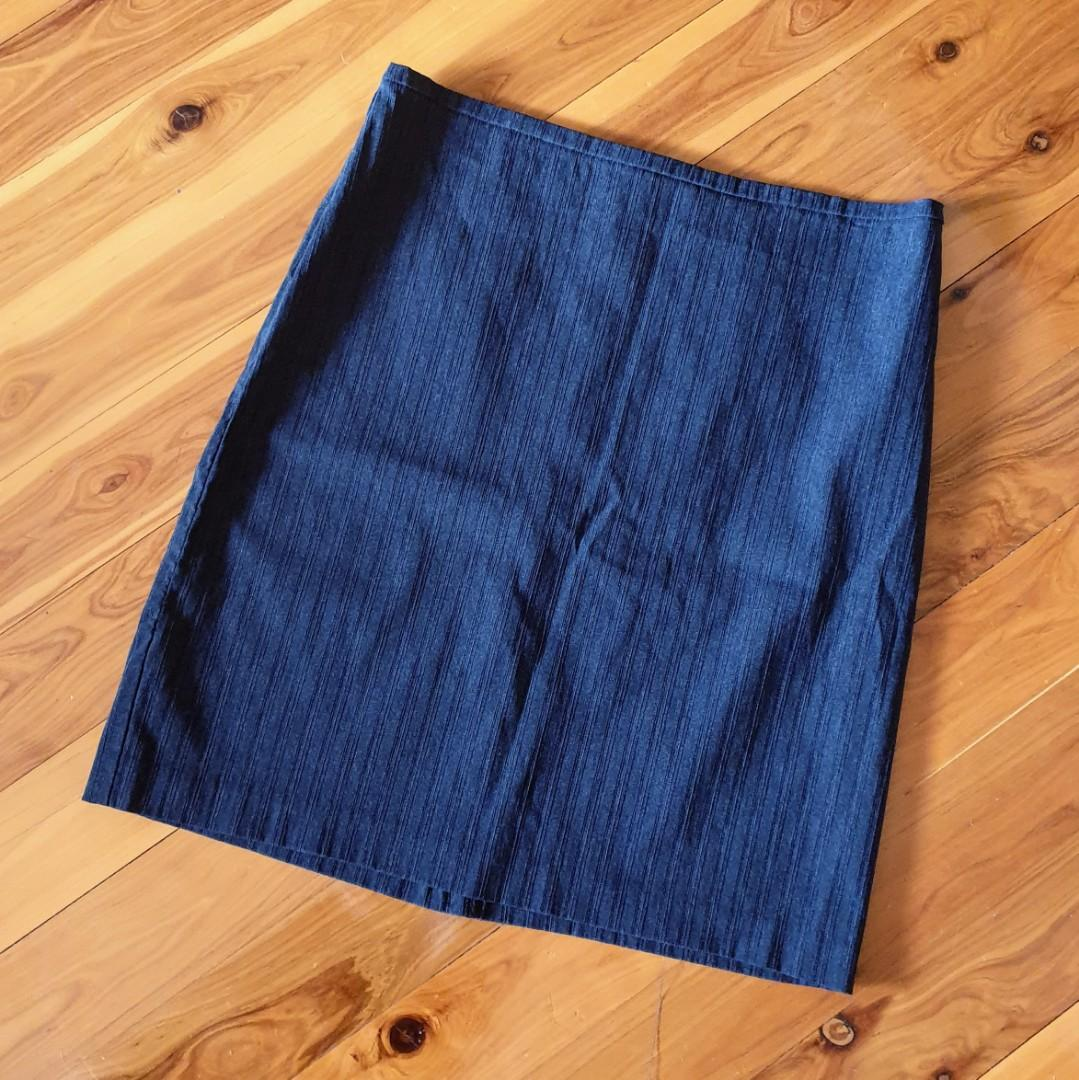 Women's size 16 'PORTMANS' Gorgeous charcoal pencil skirt adjusted to fit size14