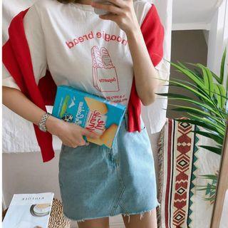 正韓 法國麵包短袖T