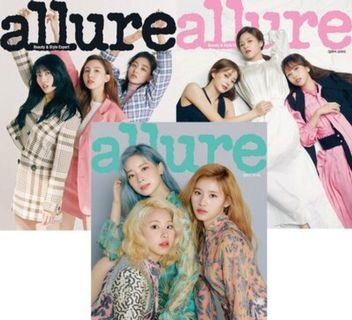 Allure magazine - May Issue/ TWICE cover page