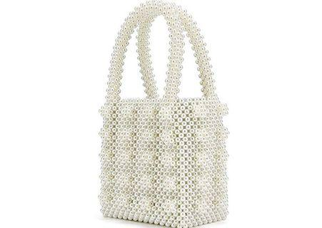 Beaded pearl bag
