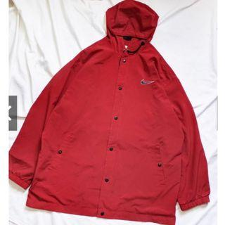 蝦皮下單/轉售AFA/古著90s品牌Nike連帽運動外套/風衣/長版寬鬆/vintage