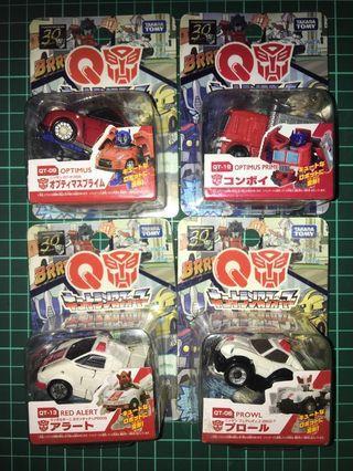 已開 變型金剛 Takara Tomy Transformers 30th 4 盒 Q車 QT-06 QT 09 QT-13 QT-19