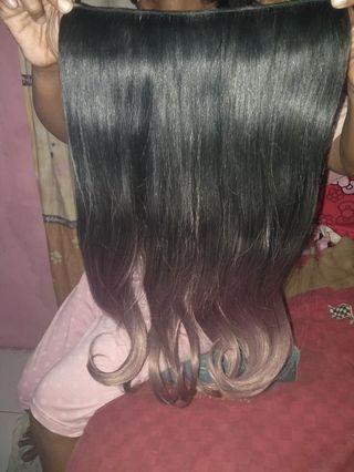 Hairclip wavy ombre