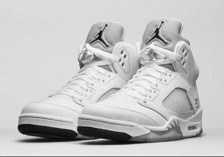 Nike Air Jordan 5 Retro Metallic Silver 白銀 US12 現貨