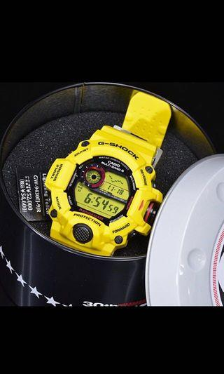 🚚 New Authentic Casio G-Shock Lighting Yellow Rangeman GW-9430E-9 30th Anniversary Watch limited edition