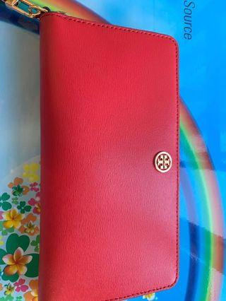 Tory Burch Wallet red long wallet