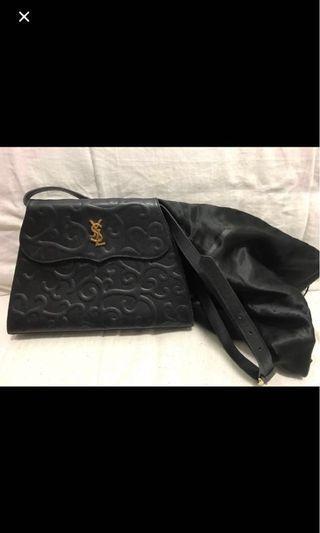 YSL vintage Arabesque Caviar leather shoulder bag