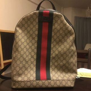 REPLICA 1:1 GUCCI GG SUPREME BACK PACK WITH SERIAL NUMBER