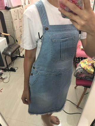 Tommy hilfiger demin overall skirts