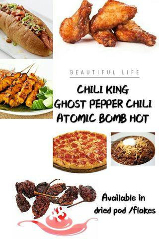 ☺ CHILI KING - BELOVED GHOST PEPPER CHILLI - ATOMIC BOMB HOTNESS - DARE? ? ☺☺