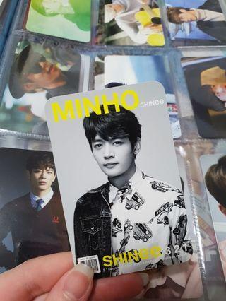 SHINee Minho 3,2,1 Official Album Photocard (Japanese Press)