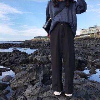 🚚 #全新# 百搭高腰西裝褲 黑