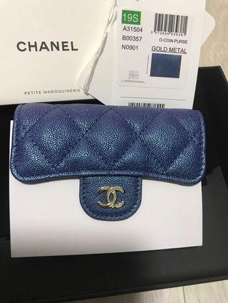 8936eddcbf5b Chanel iridescent card holder wallet