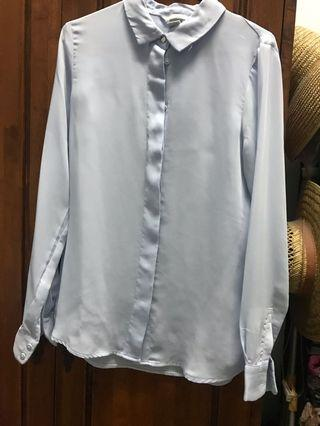 H&M Baby Blue Soft Shirt