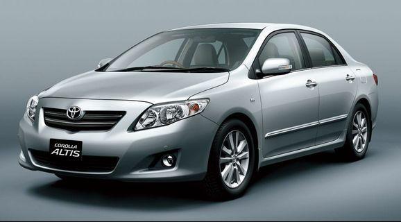 Toyota Altis 1.6A Short / Long term Rental