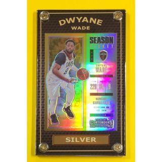 Hot 2017-18 Dwyane Wade Rare Silver Season Ticket NBA Card