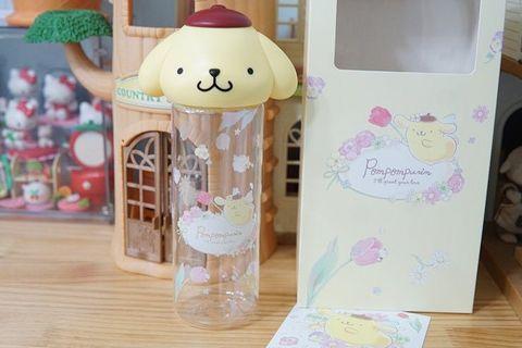 🚚 Sanrio Original Pompom Purin Figure Bottle