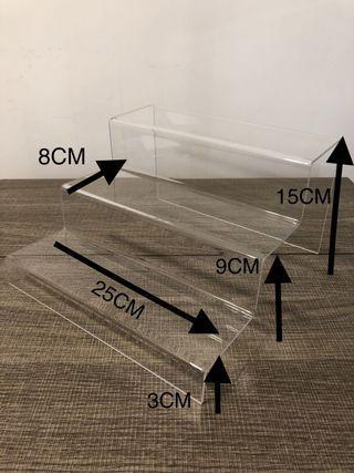 亞加力 3層梯形展示架