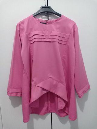 Atasan pink cerah, blouse cantik