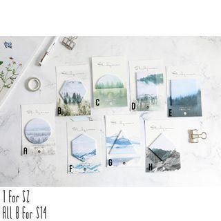 🚚 Mountain theme sticky note
