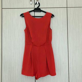 TOPSHOP skort dress (orange)