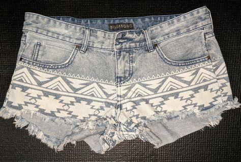 Billabong Tribal Denim Shorts #EndGameYourExcess
