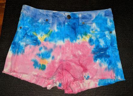 🚚 Colorful Tie Dye Denim Shorts #EndGameYourExcess