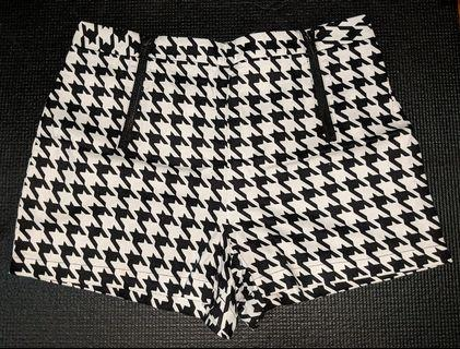 🚚 Houndstooth Printed Zipper High Waist Shorts #EndGameYourExcess