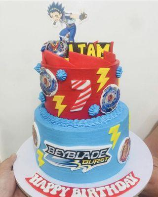 Beyblade Themed Cake