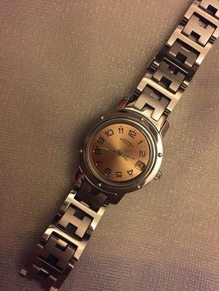 100%real HERMES ladys PINK watch CL4.210