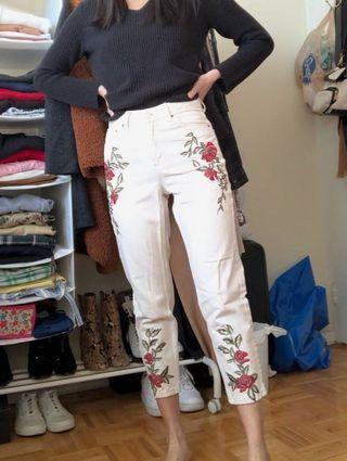 Topshop Petite White Mom Jeans