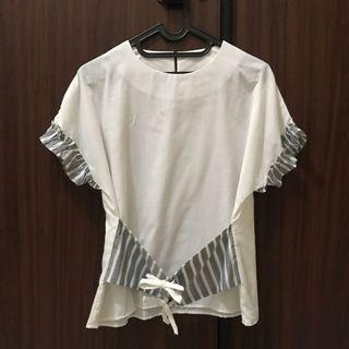 White Top with Gray stripes