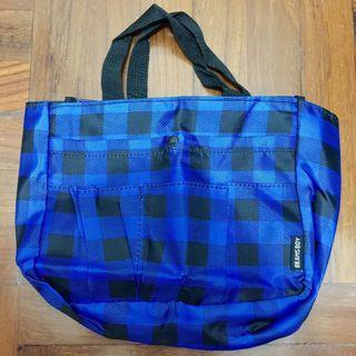 Beams Boy,Blue,Purple,Black,Checked,Pattern,Recycle,Reused,Bag,環保袋,布袋,飯袋,便當袋,藍色,紫色,黑色,格仔,花紋