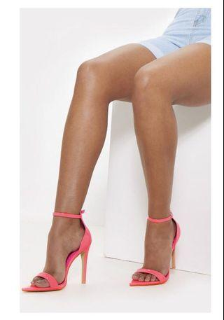 Pretty Little Thing Neon Pink Heels