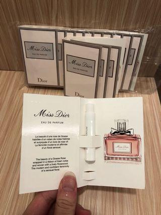 衝評價最便宜*正品迪奧miss dior 花漾迪奧香氛針管香水1ml